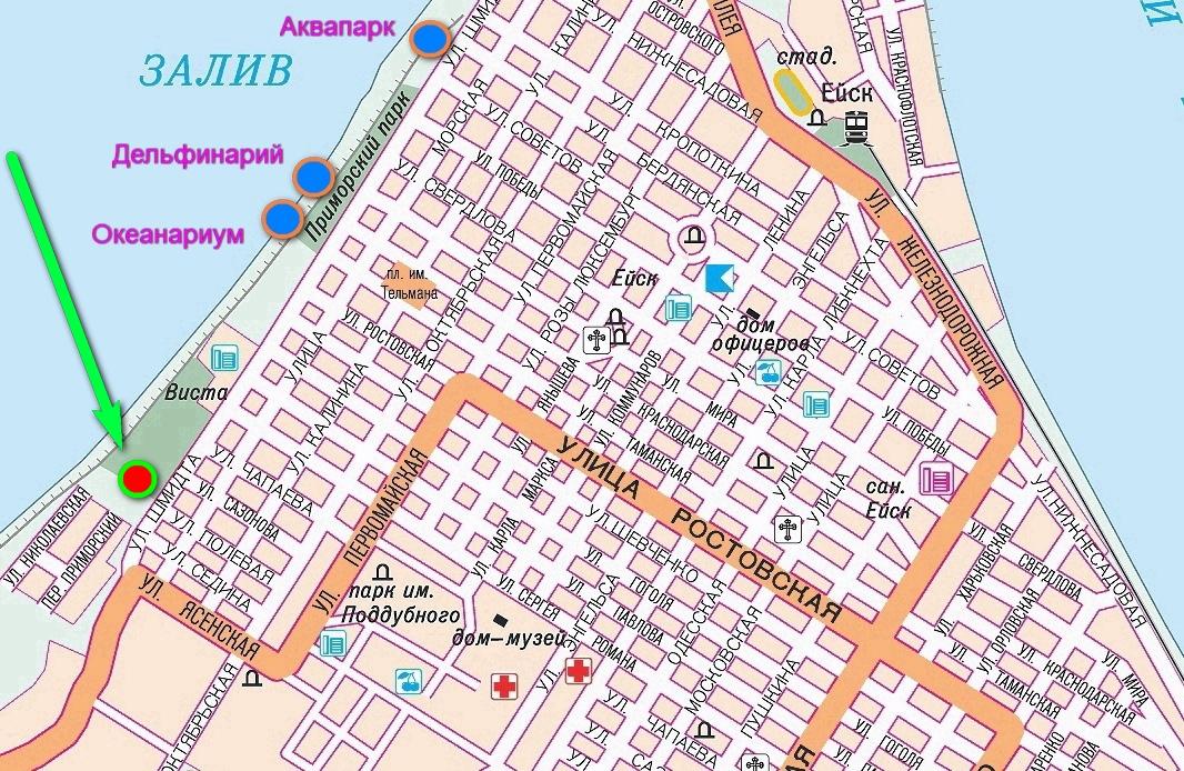 Дом на Полевой на карте Ейска